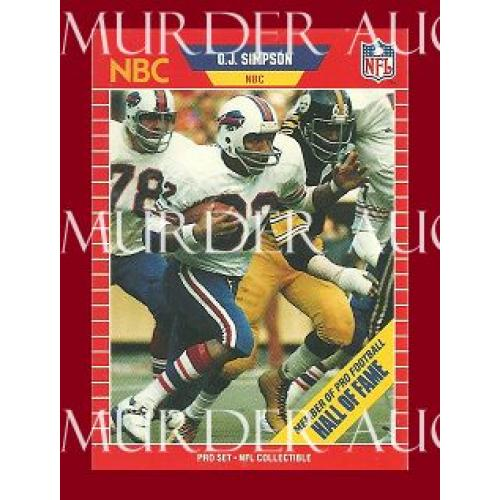 O.J. Simpson NBC Hall of Fame sports card