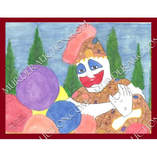 TOMMY LYNN SELLS Patches the Clown painting EXECUTED $10 opening bid/NO reserve!