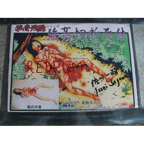 Issei Sgawa owned discted handmade doll by Shintaro Kago signed box on front and back Issei Sagawa