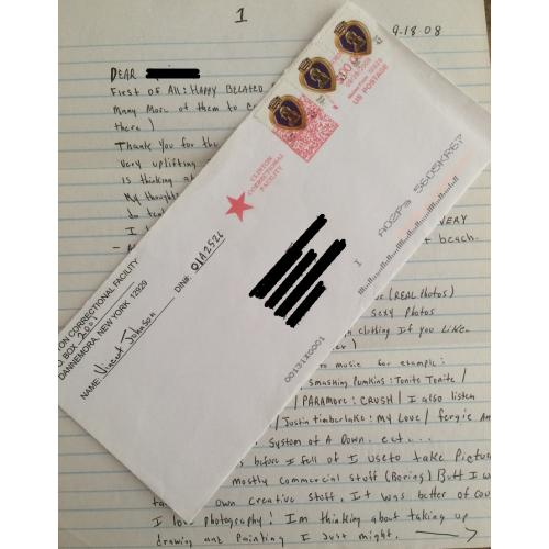 VINCENT JOHNSON HANDWRITTEN LETTER/ENVELOPE - FREE SHIPPING WORLDWIDE