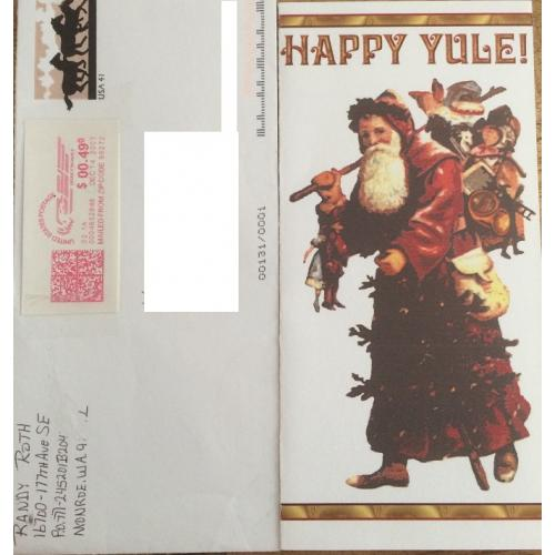 KILLER RANDY ROTH HANDWRITTEN CARD AND ENVELOPE - FREE SHIPPING WORLDWIDE