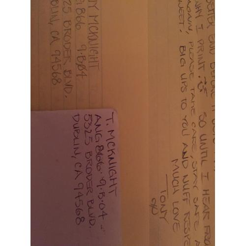 serial killer anthony mcknight 6 page letter envelope set from