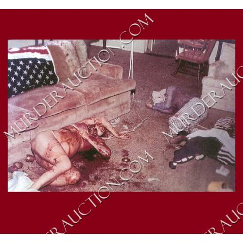 Crime scene photo from Sharon Tate house/Manson Family
