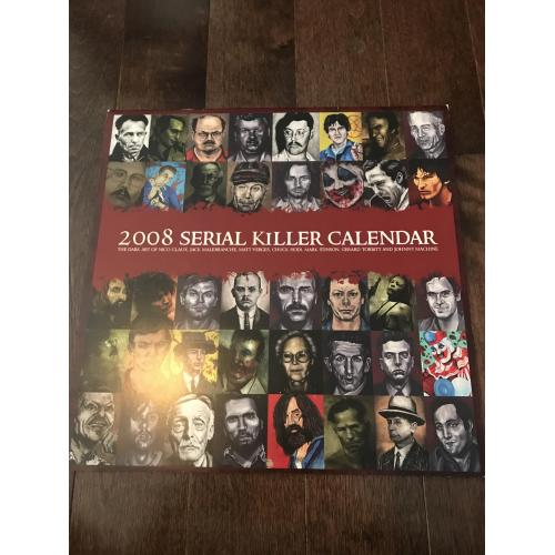 Serial Killer Calendar unused mint with many Nico Claux artwork and many more from 2008