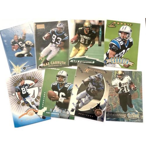 Rae Carruth *Convicted Player* 8 Card Lot