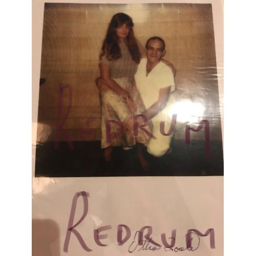 Ottis Toole color 8.5 x 11 enlarged photograph with niece from a Florida Prison