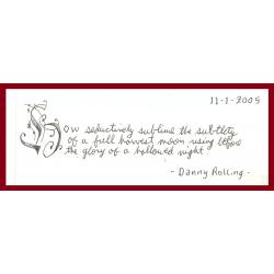 DANNY ROLLING letter/envelope 11/1/2005 EXECUTED