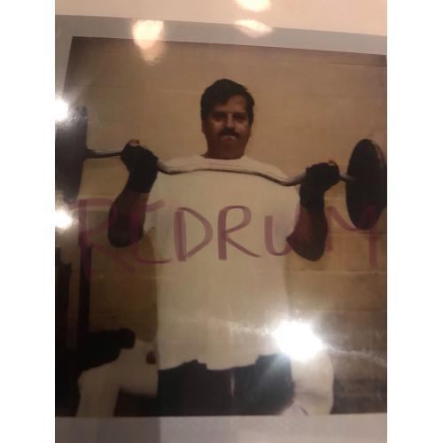 William Bonin lifting weights in San Quentin prison on Deathrow in the 1990's