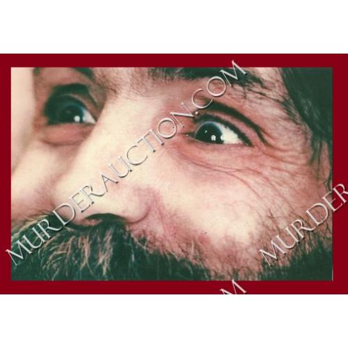 CHARLES MANSON photograph 4×6 (eyes) DECEASED