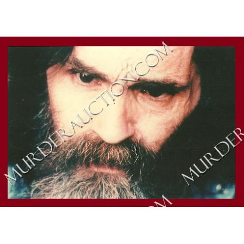 CHARLES MANSON photograph 4×6 (face) DECEASED