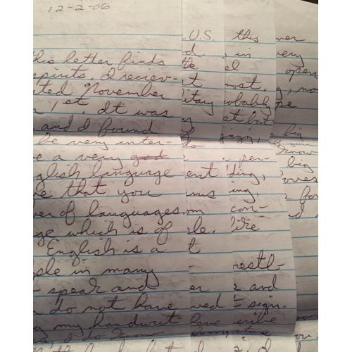 BID, WIN & HELP THIS SITE! LETTER/ENVELOPE SET FROM SERIAL KILLER DANIEL CONAHAN
