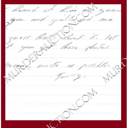 THOMAS WHISENHANT letter 7/11/2006 EXECUTED