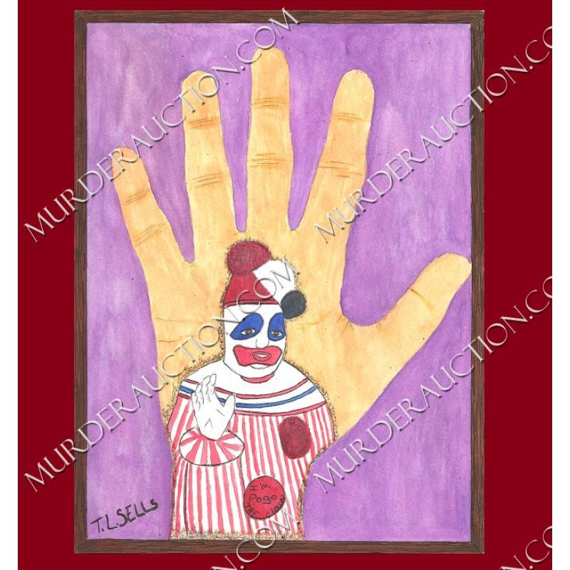 TOMMY LYNN SELLS Pogo/hands paintings 7.5×10 EXECUTED