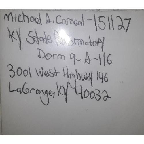 SCHOOL SHOOTER Michael Carneal Letter and Envolope Set