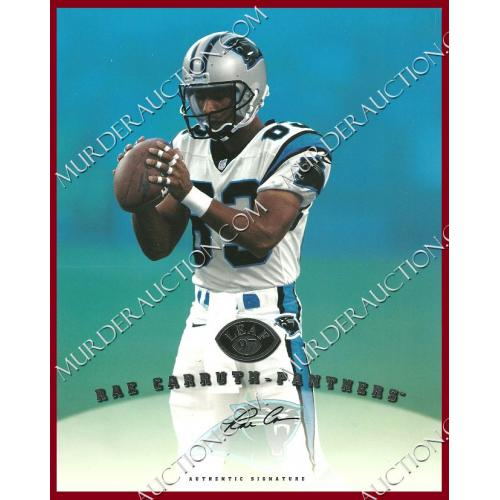 RAE CARRUTH 1997 LEAF Donruss signed football card