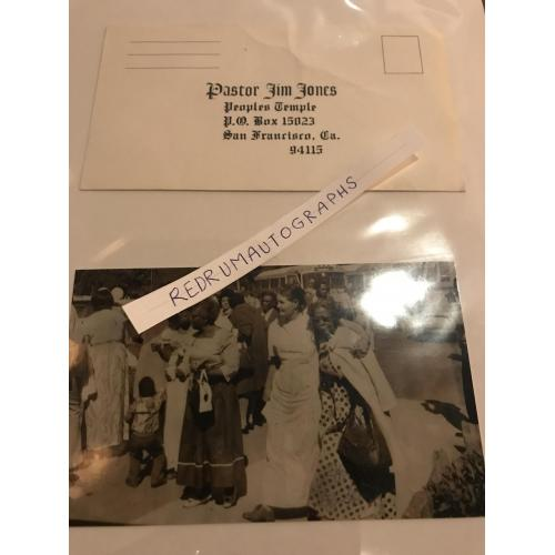 Jim Jones People's Temple original unused envelope from the 1970´s