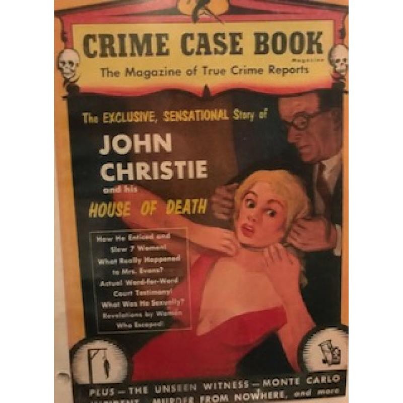 John Christie True Crime magazine add from 1954