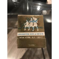 Lexington Hotel complete matches and matchbook nice reference Alcapone headquarter