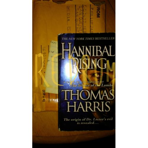 Phillip Jablonski Hannibal Rising owned and read book from San Quentin Deathrow 2015