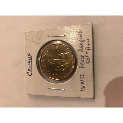 Canada loonie WWII 50th anniversary peace keeping 1995