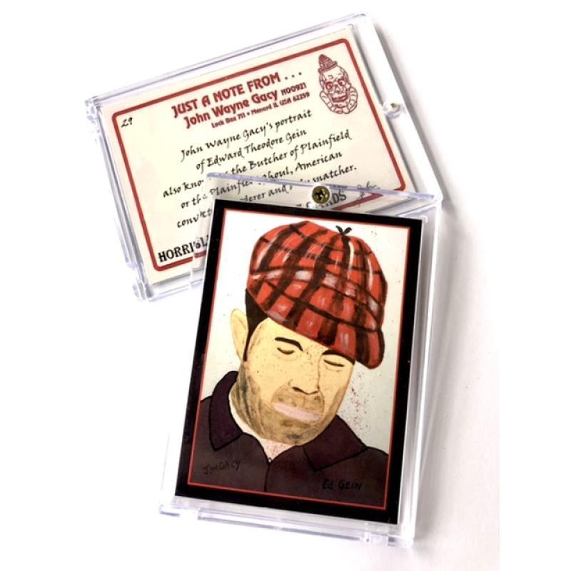 Crime Card Collector Case Ed Gein