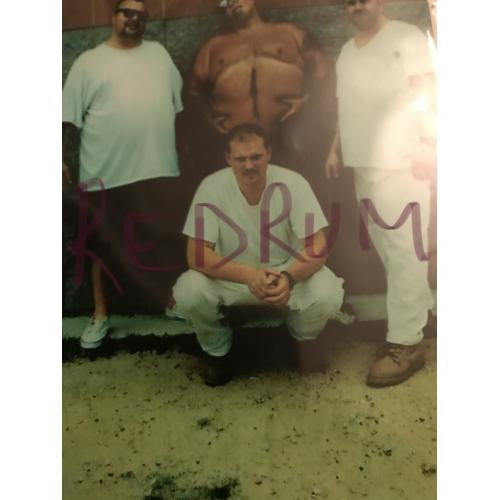 Joe Methney 4 x 6 Prison yard photograph 2000