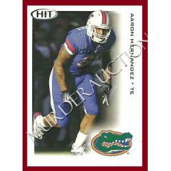 AARON HERNANDEZ 2010 Sage Hit football card #22 DECEASED
