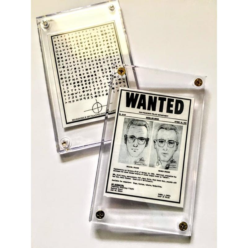 Zodiac Killer Wanted Collector Case
