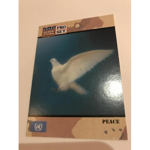 Peace card Desert Storm no. 250 from 1991
