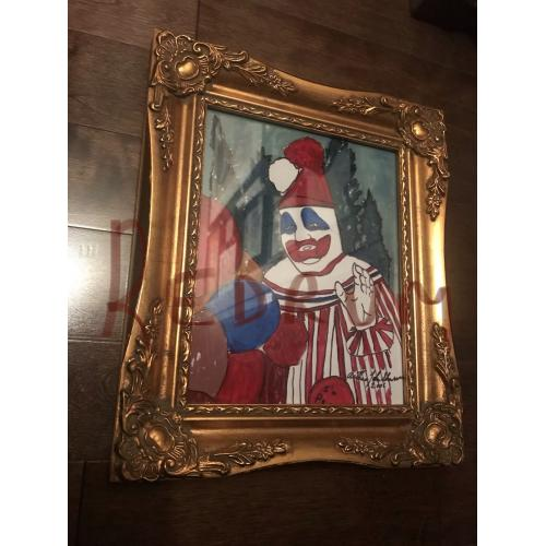 Arthur John Shawcross I'M POGO the Clown plexiglass painting from 2006