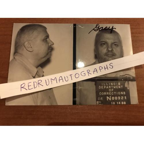 Original illinois Department of Corrections 3 x 5 mugshot from his prison file 1988