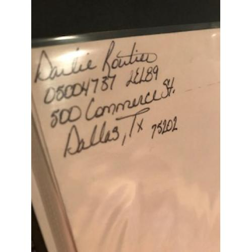 Darlie Routier handwritten envelope with numerous lines penned by her from 2005