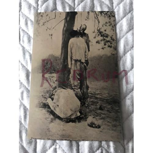 Execution 4 x 6 photograph by hanging China early 1900's