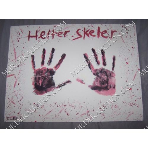 TOMMY LYNN SELLS Helter Skelter/Blood Forever painting 15×20 EXECUTED