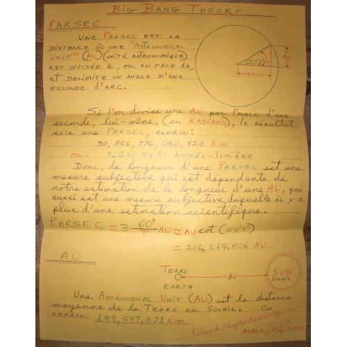 SERIAL KILLER PATRICK WAYNE KEARNEY HANDWRITTEN BIG BANG THEORY (FRENCH EDITION)