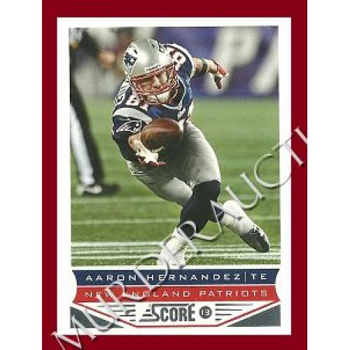 AARON HERNANDEZ 2013 Score football card #128 DECEASED