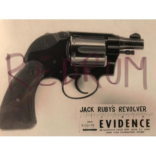 Jack Ruby 4 x 6 revolver evidence photograph 1960's