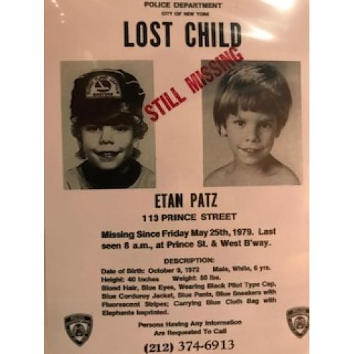 Etan Patz lost child 4 x 6 add poster from 1979