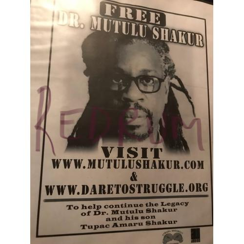 Dr. Mutulu Shakur 8.5 x 11 poster FREE DR. MUTULU SHAKUR from Lyrical Knockout entertainment obtained in 2005
