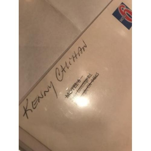 Kenny Calihan handwritten Motel 6 envelope from 2001