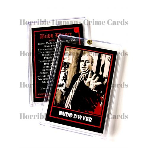 Budd Dwyer True Crime Trading Card In Collector Case