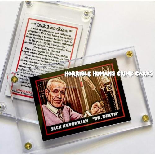 JACK KEVORKIAN DR.DEATH HORRIBLE HUMANS Collector Case