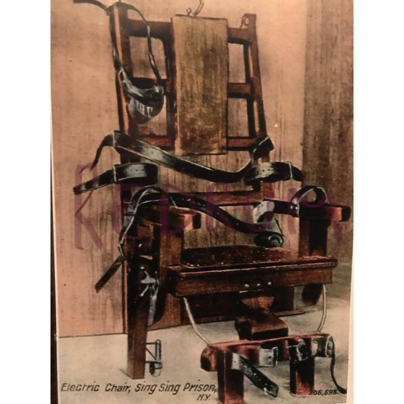 Albert Fish 3 x 5 Sing Sing Prison electric chair 1900's