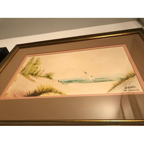 Deceased - William Bill Heirens watercolor painting titled Dunes signed W. Heirens