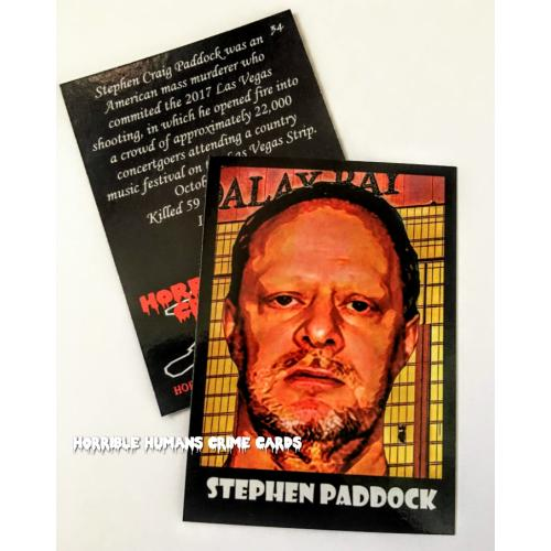 Stephen Paddock * Mass Murderer * Horrible Humans Crime Cards Series 3