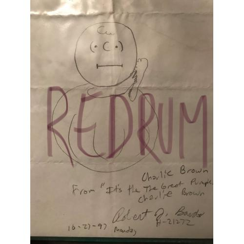 Robert J. bardo original Charlie Brown artwork from 1997
