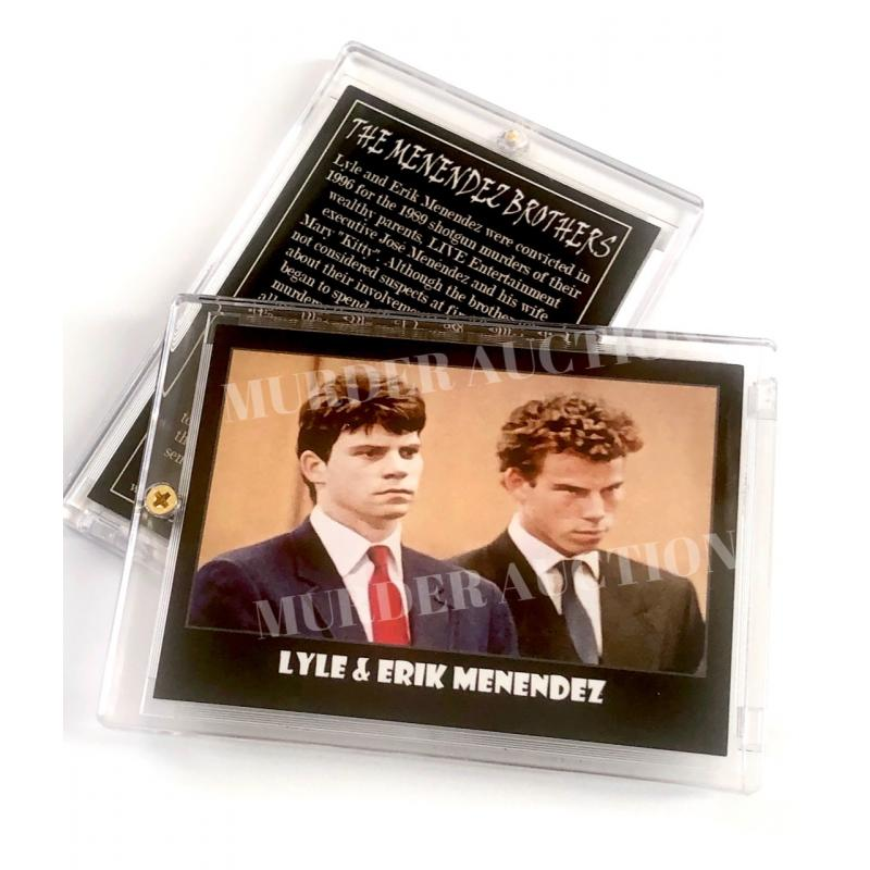 Menendez Brothers * True Crime Trading Card In Collector's Case * Lyle & Erik Menendez   Horrible Humans Crime Cards