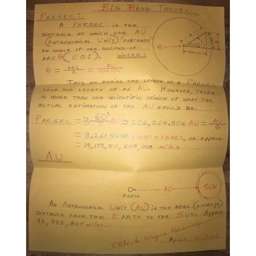 SERIAL KILLER PATRICK WAYNE KEARNEY HANDWRITTEN BIG BANG THEORY (ENGLISH EDITION)