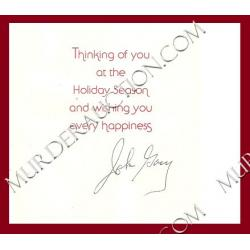 JOHN WAYNE GACY Christmas card/envelope 12/9/1992 EXECUTED