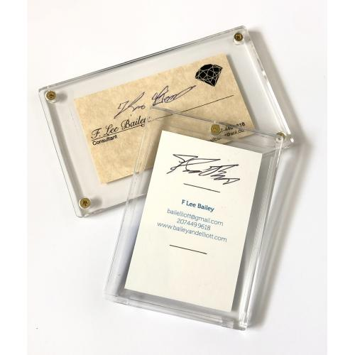 "F. Lee Bailey Autographed Business Card Set In Cases ""Dream Team"" OJ Simpson Defense Attorney / Patty Hearst"